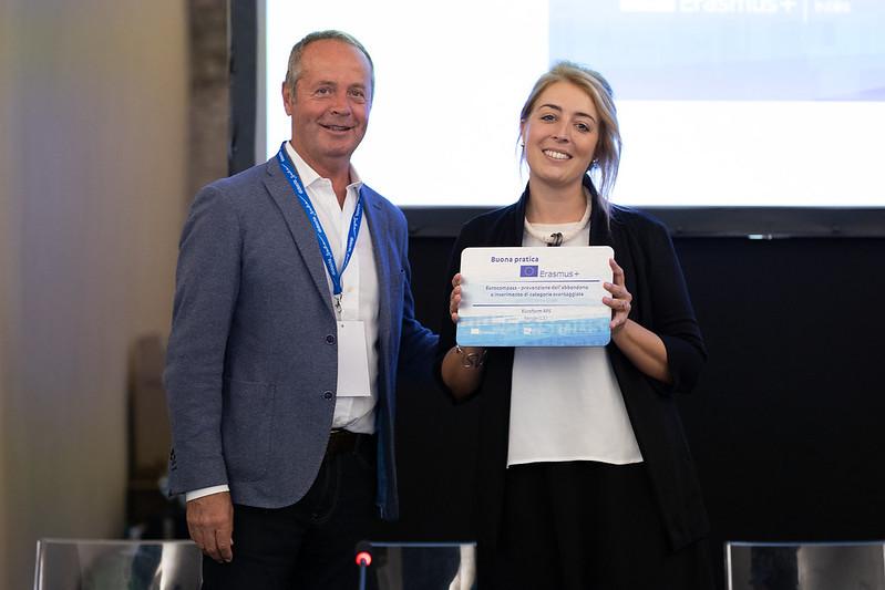 Euroform RFS riceve il premio per i progetti Erasmus+ selezionati come buone pratiche del Settore Scuola/Educazione degli Adulti
