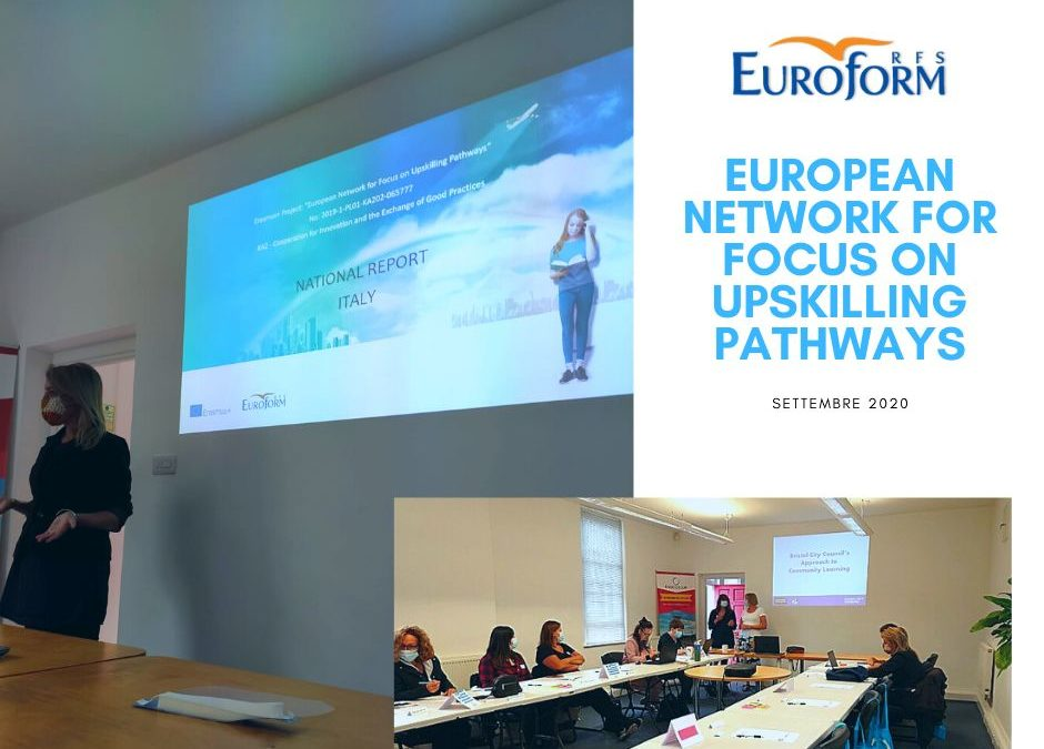 European Network for Focus on Upskilling Pathways : evento di formazione per lo staff