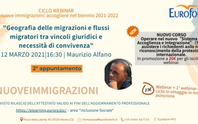 Ciclo di 2 Webinar – Le nuove immigrazioni: accogliere nel biennio 2020-2021 — 2° APPUNTAMENTO
